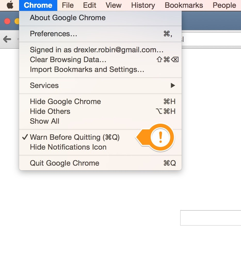 UX-SNIPPET] Chrome warn before quitting