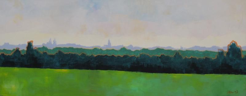 Fantasy Landschaft, 2003, Acryl auf Leinwand, 40x100cm