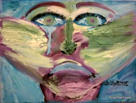 """""""Weinende Frau"""" , in Ölfarbe, auf Leinwand, Größe: 40x 30 cm. Signiert mit: Nachtigall 06/05 , bei Interesse E- Mail:  adler-nachtigall@web.de"""