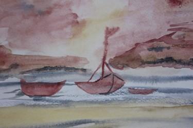 Aquarellbild, in der Psychiatrie gemalt. 2004.