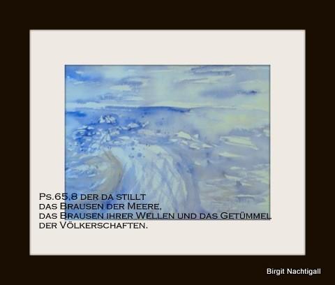 """Aquarellbild: """"Brausende Welle! """""""