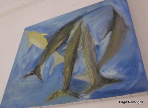 """Ein unvollendete Ölbild, mit dem Name: """"Torpedos!"""""""