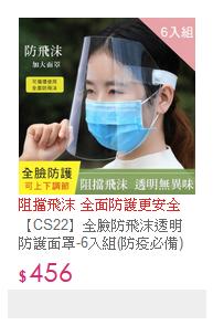 全臉防飛沫透明防護面罩-6入組(防疫必備)