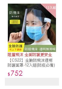 【CS22】全臉防飛沫透明防護面罩-12入組(防疫必備)