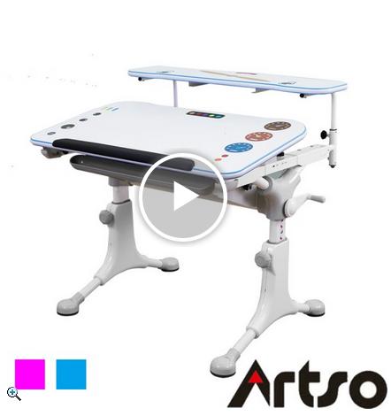 【Artso 亞梭】巧智桌(兒童成人人體工學可調整桌高/桌面斜度 預防不良姿勢駝背 健康家俱/電腦桌)