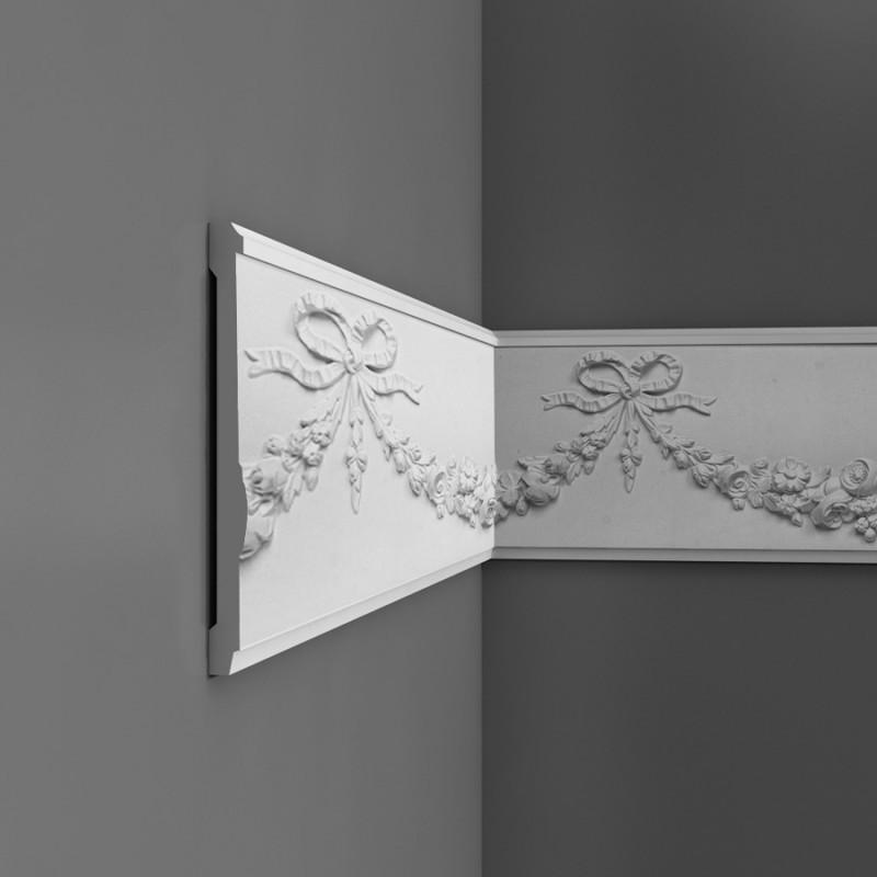 p7080 orac decor luxxus wandleiste stuckleisten. Black Bedroom Furniture Sets. Home Design Ideas
