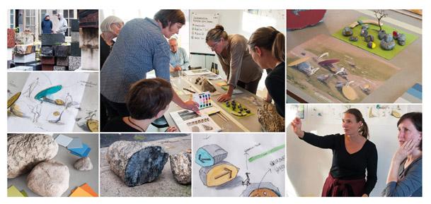 Baustelle – hier entsteht eine Besucherlenkung (Fotos gewerkdesign Berlin)