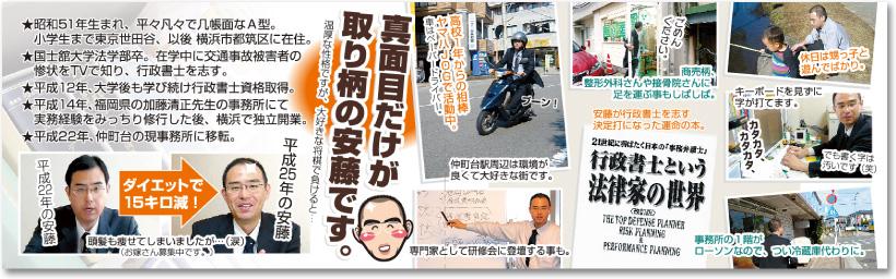 行政書士さんの売れる二つ折り名刺【デザイン見本|中面】