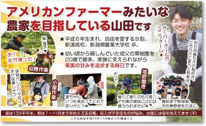 果樹農家さんの売れる名刺【デザイン見本|ウラ面】