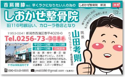 柔道整復師・カイロプラクターさんの売れる名刺【デザイン見本|オモテ面】
