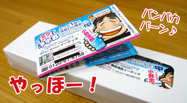 印刷ホヤホヤの売れる名刺(二つ折りタイプ)