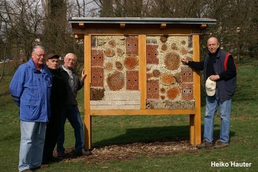 Peter Schwarz, Dieter Schneider, Jörg Frey und Gerd Hüther (v.l.n.r.).
