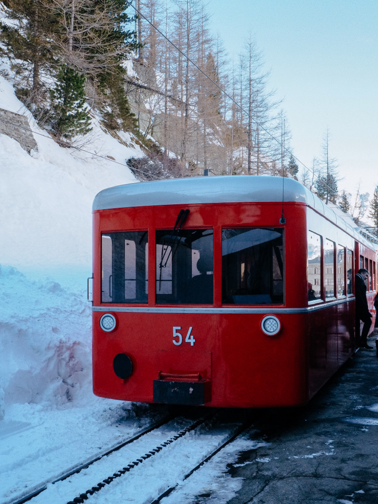 Montenvers Train, Mer de Glace, Chamonix (French Alps, Alpes françaises)