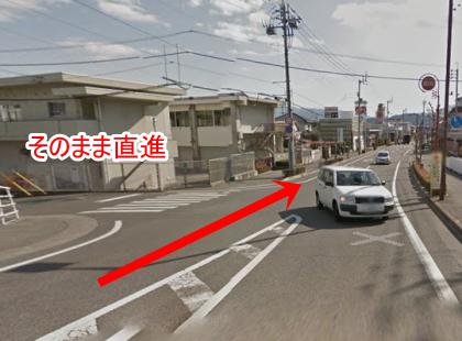 右手に日野学園、左手に拓川グランドを越えてください。