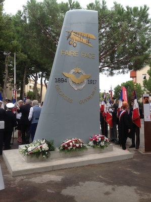 Inauguration du monument Guynemer à Perpignan (9 septembre 2017) aaalat-languedoc-roussillon.fr