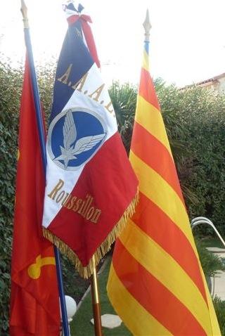 Drapeau de l'amicale des anciens de l'ALAT du Languedoc-Roussillon