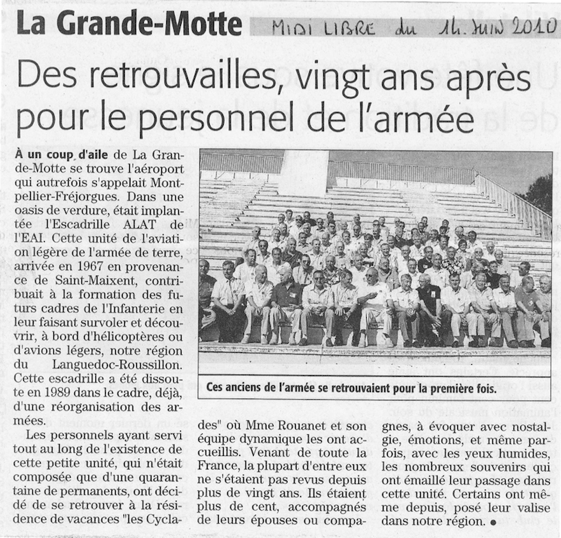 Retrouvailles des anciens de l'EALAT EAI (5 & 6 juin 2010) aaalat-languedoc-roussillon.fr