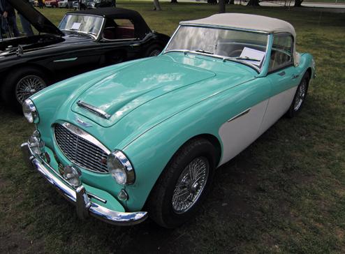 1959 Austin-Healey 100-6 (BN6).100-6 garums bija 4,001 mm (157.5 collas) un  2,337 mm(92 in) garenbāzi; platums 1,537 mm (60.5 collas), aptuveni par 13 mm (0.5 collām) platāks salīdzinot ar četru cilindru versiju. Pašmasa bija 1,102 kg (2,430 lb).