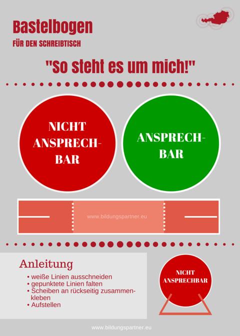 Bildungspartner Bastelbogen für den Schreibtisch- Bildungspartner Österreich