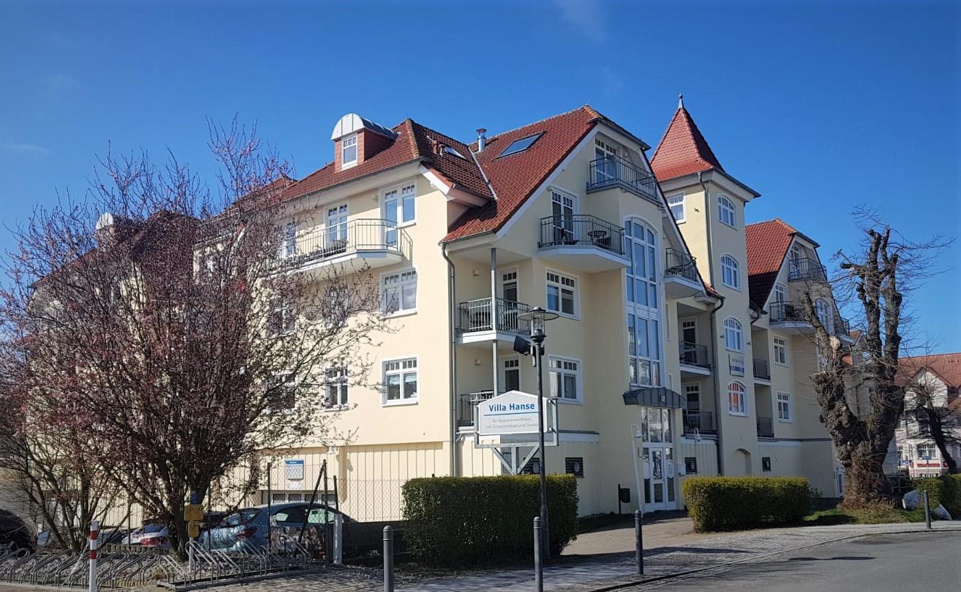 Appartementhaus Villa Hanse in Kühlungsborn - Fassadengestaltung und Malerinnenarbeiten