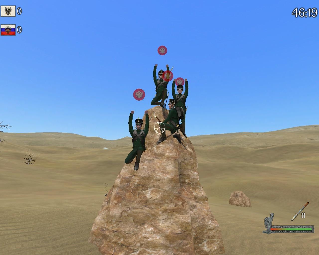 Die Jäger Snipern auf nem Stein :D
