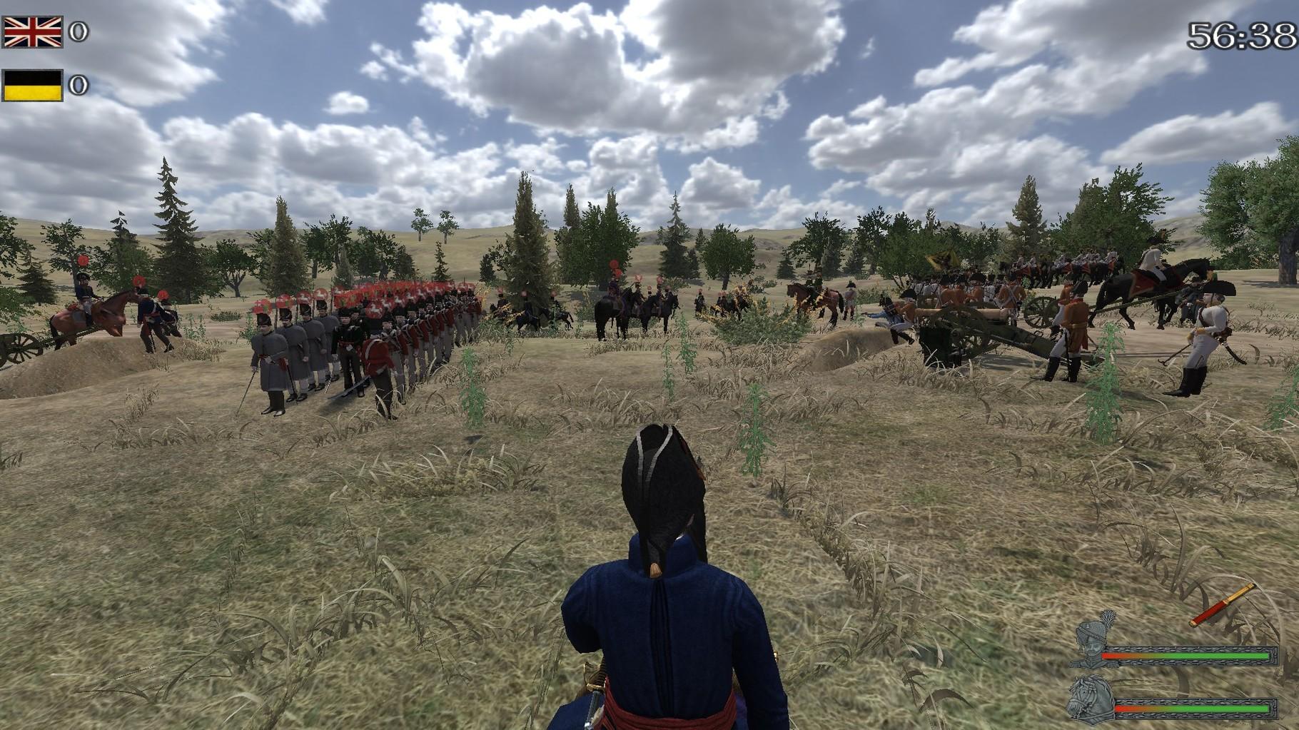Vor dem 1v1 gegen das kaiserliche Heer ein 5:1 Sieg (80vs80 Mann)