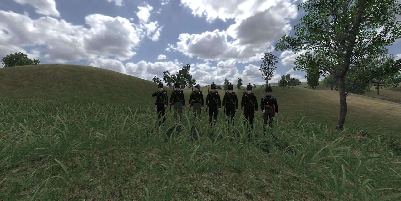 Weil wir uns entschlossen mit dem 10th_JBH als Jäger und leichte Anzutreten hier auch Jäger.