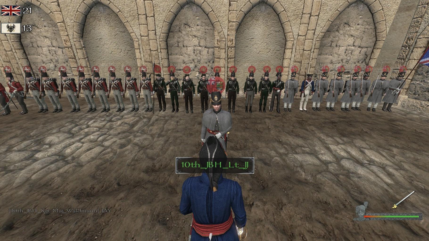 Beförderung des Lt JJ zum Major.
