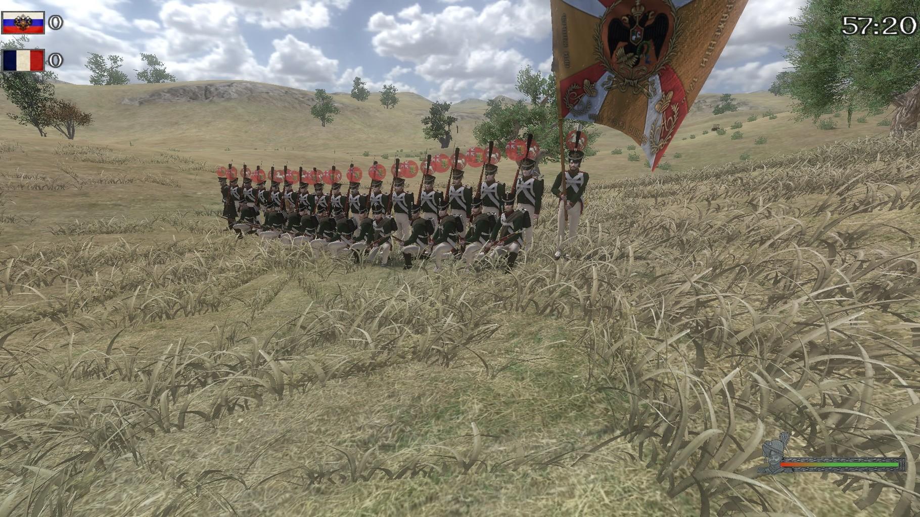 Leichte Infanterie und Grenadiere im Linebattle.