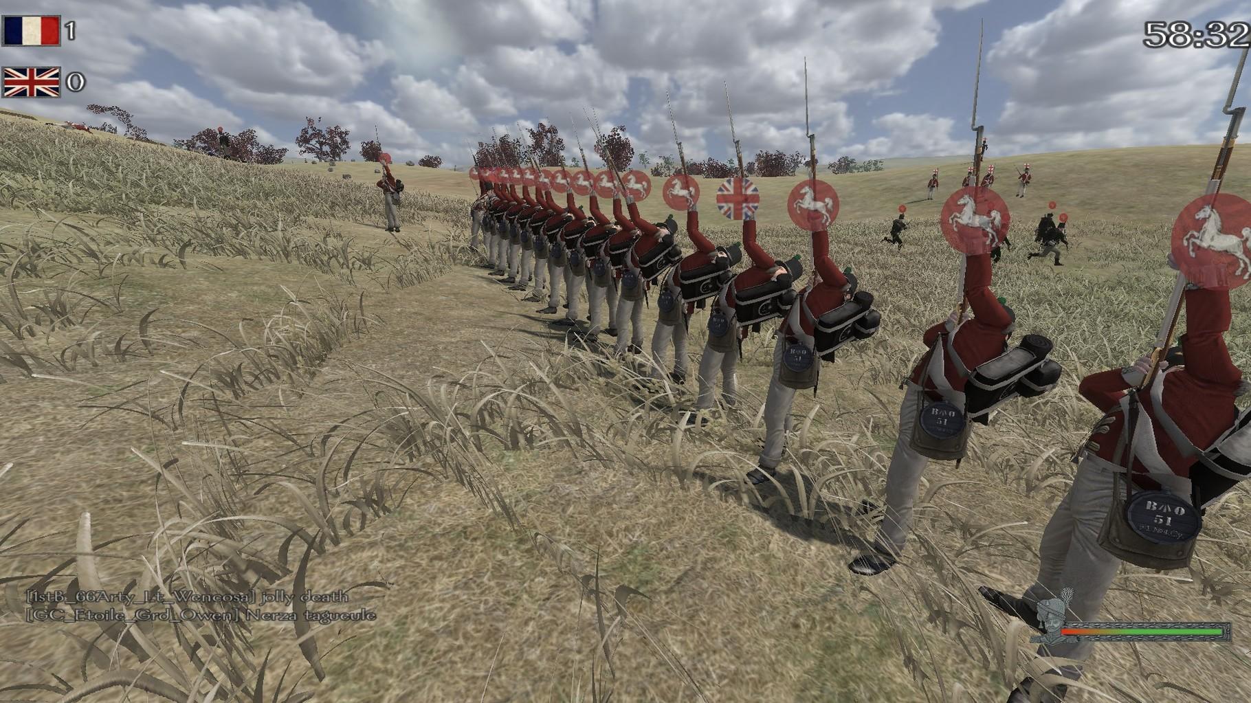 Die Leichte Infanterie im Linebattle.