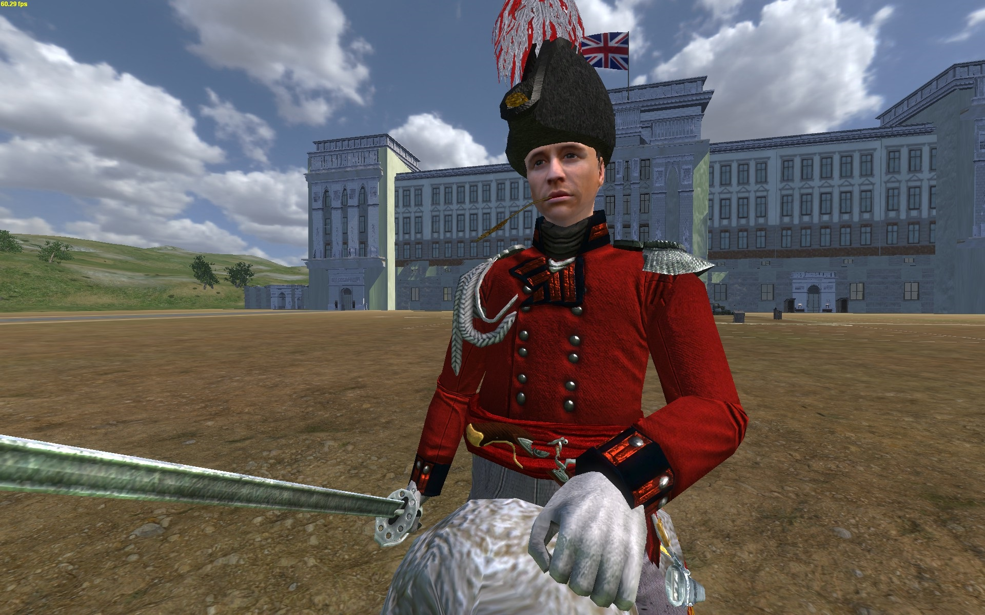 Lieutenant-Colonel JJ zu Pferd [vorne]