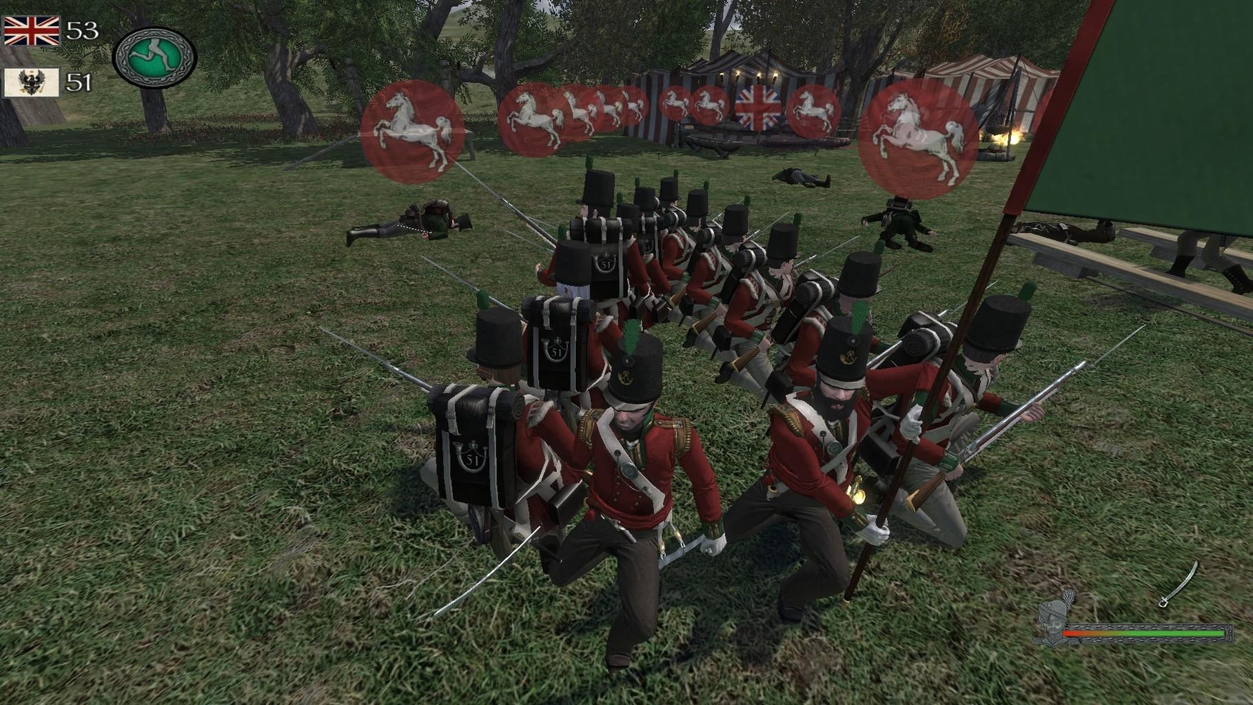 Keil gegen Frontalen Kavallerieangriff.