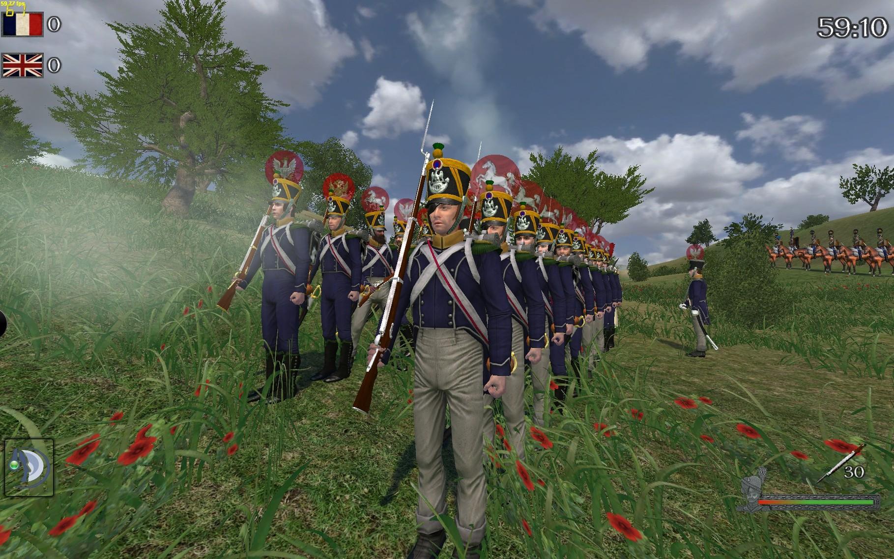 Während des Linebattles das Regiment aufgeteilt in zwei Linien.