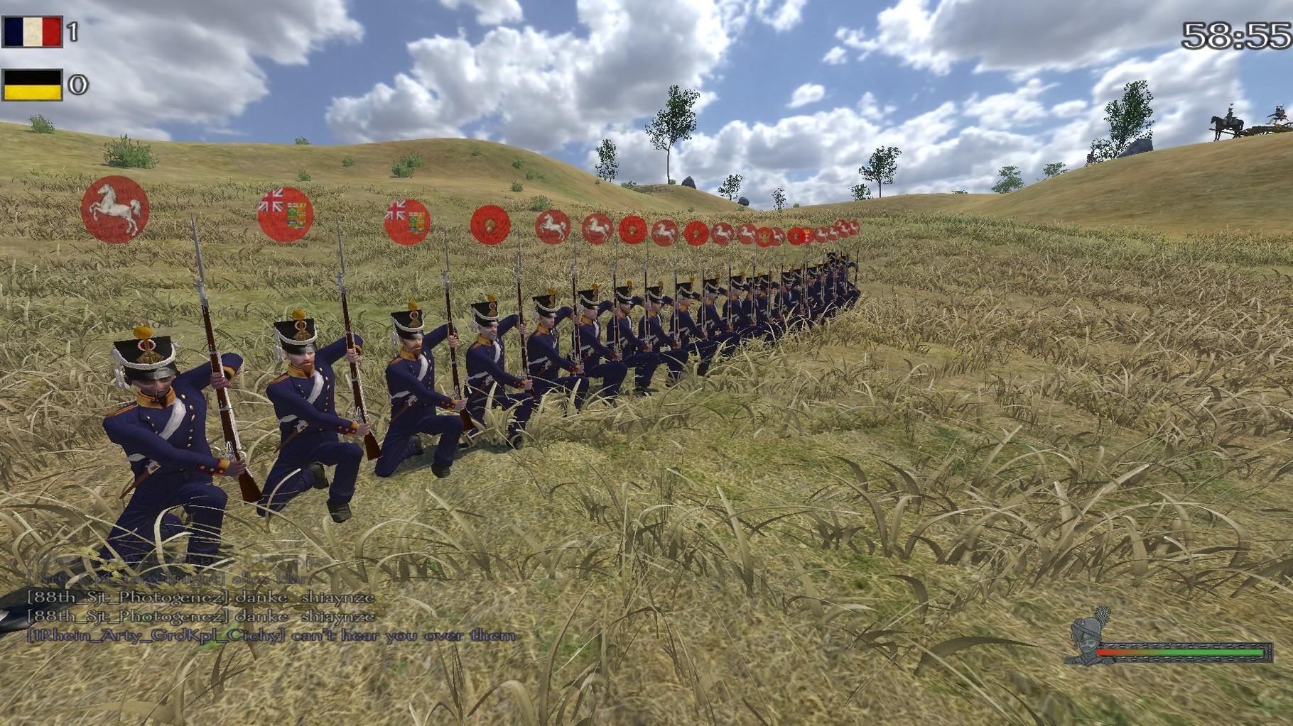 Ein freiwilliges Linebattle als Linieninfanterie.
