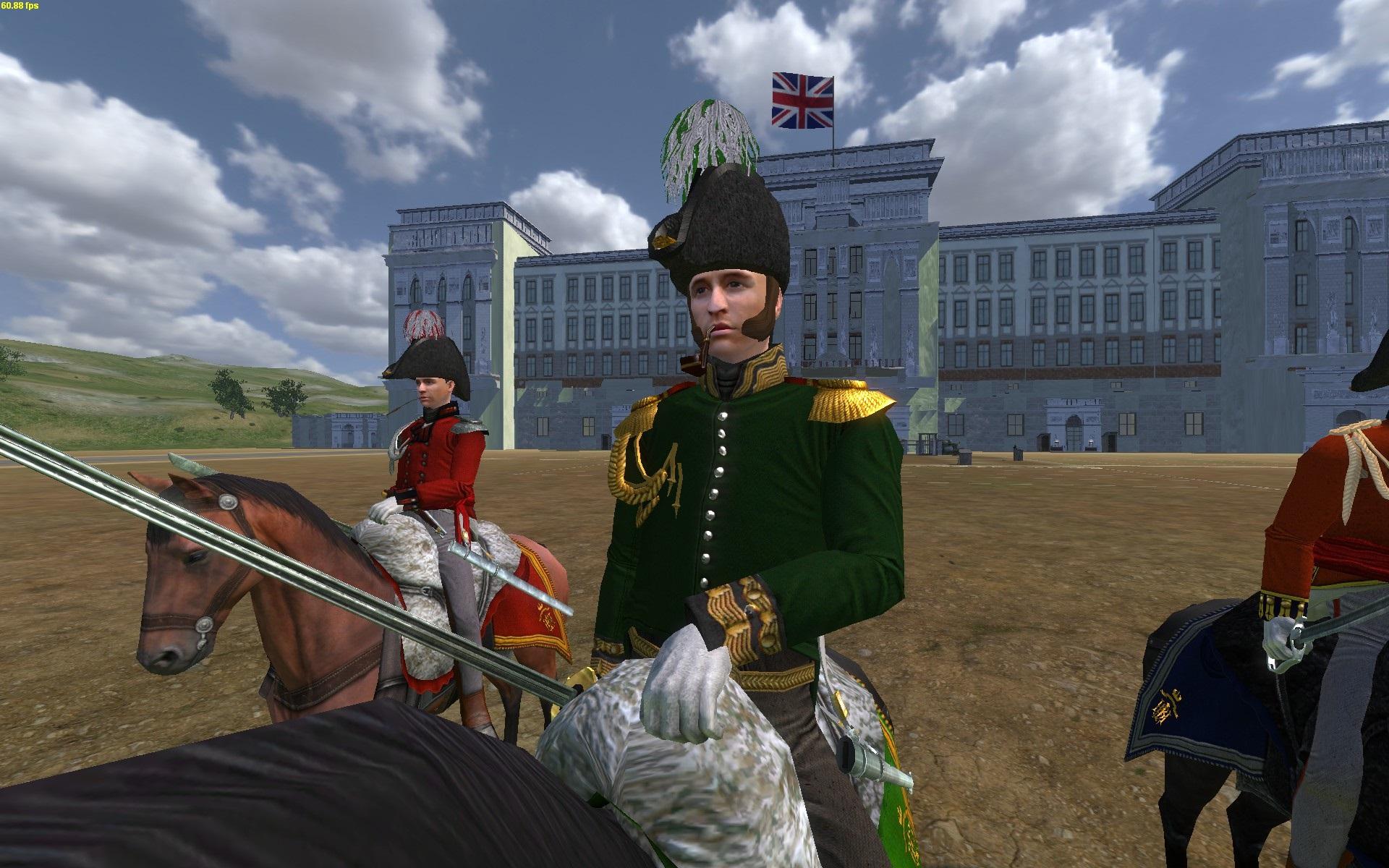 Colonel Chrissi zu Pferd [vorne]