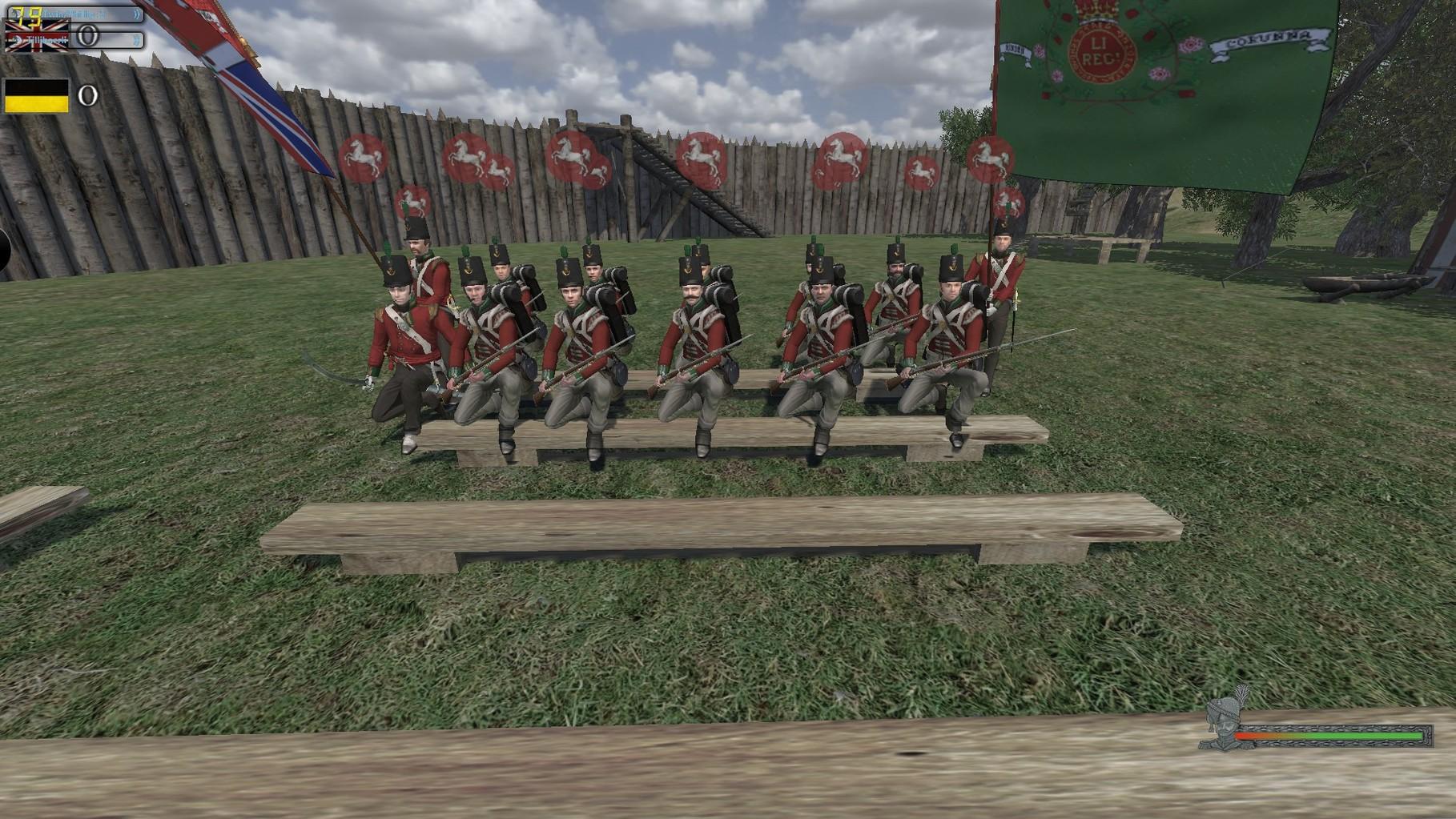 Zusammentreffen der Leichten Infanterie.
