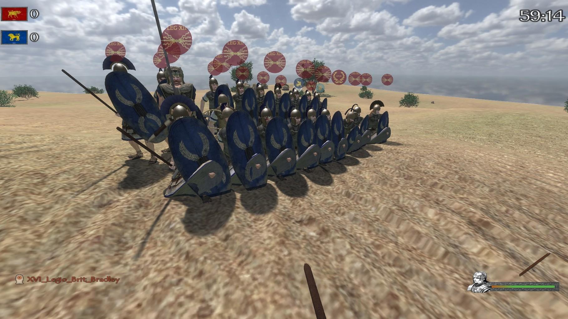 Das 10th in dem römischen Bürgerkriegsjod Bello Cevilli.