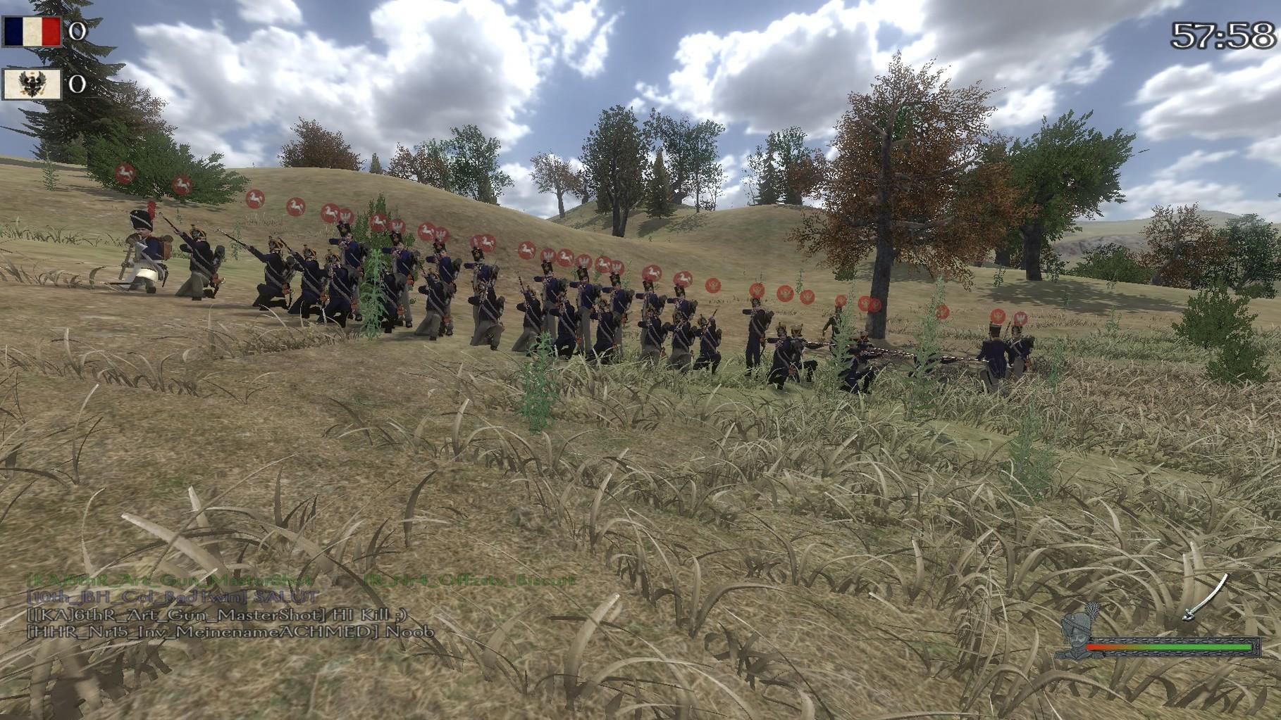 Das erste Linebattle mit Leichter Inf. ,Linieninfanterie und Jägern des 10th.