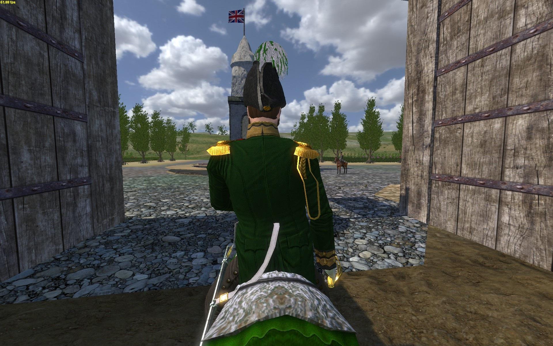 Colonel Chrissi zu Pferd [hinten]