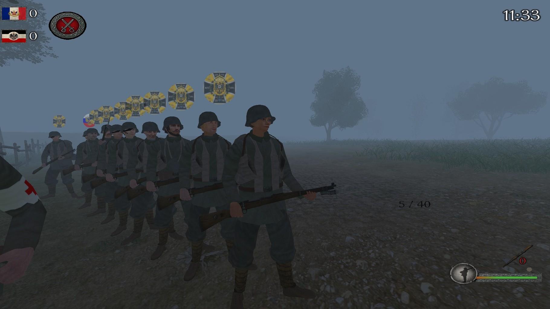 Ehemaliges Projekt des 10th im Ersten Weltkriegs Mod Iron Europe Garde Grenadiers Regiment Nr.110