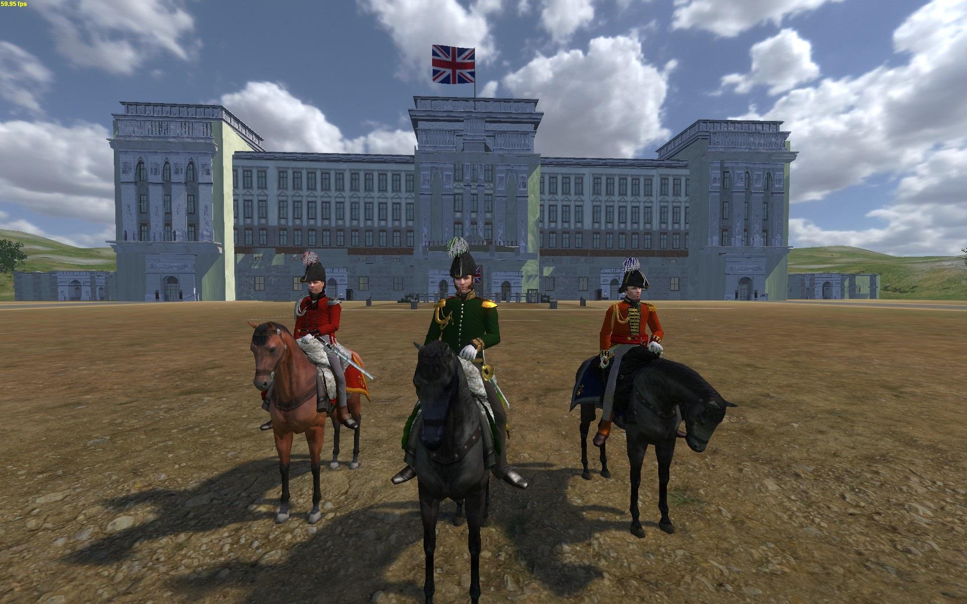 Stabsoffiziere zu Pferd [vorne]