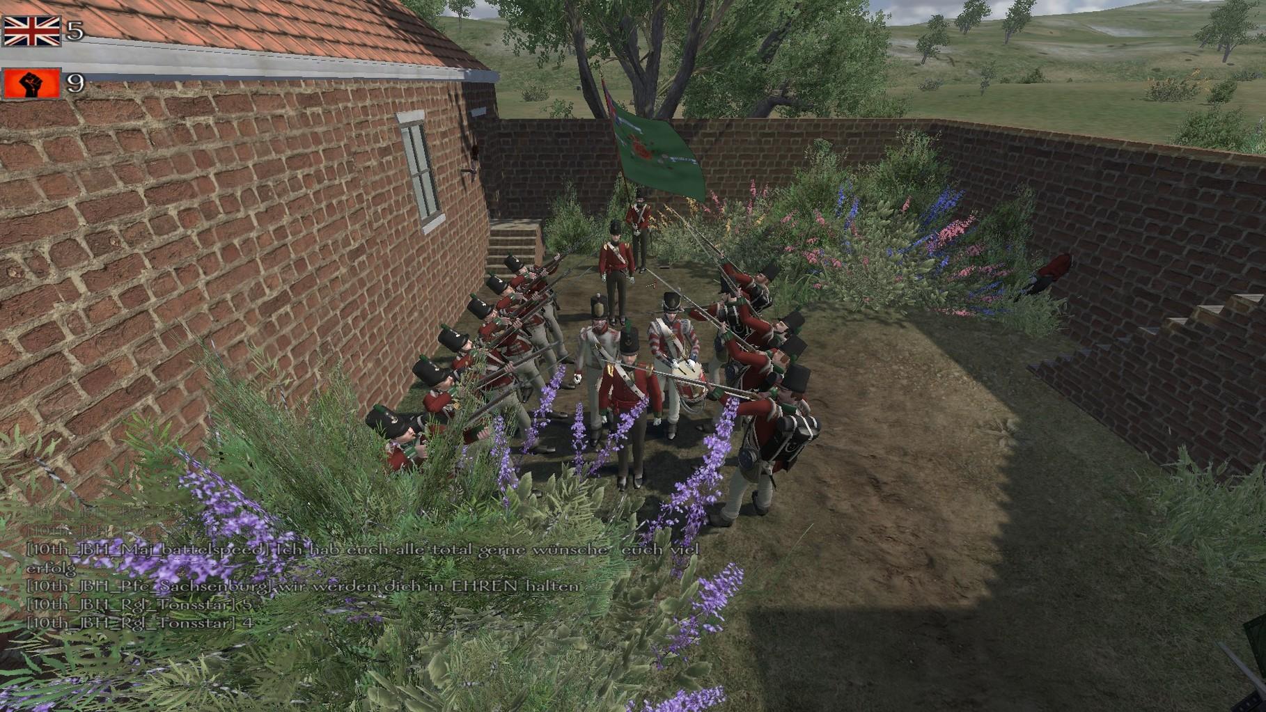 Die Verabschiedung unseres Major battelspeed aus dem Dienst in der Königlichen Armee.