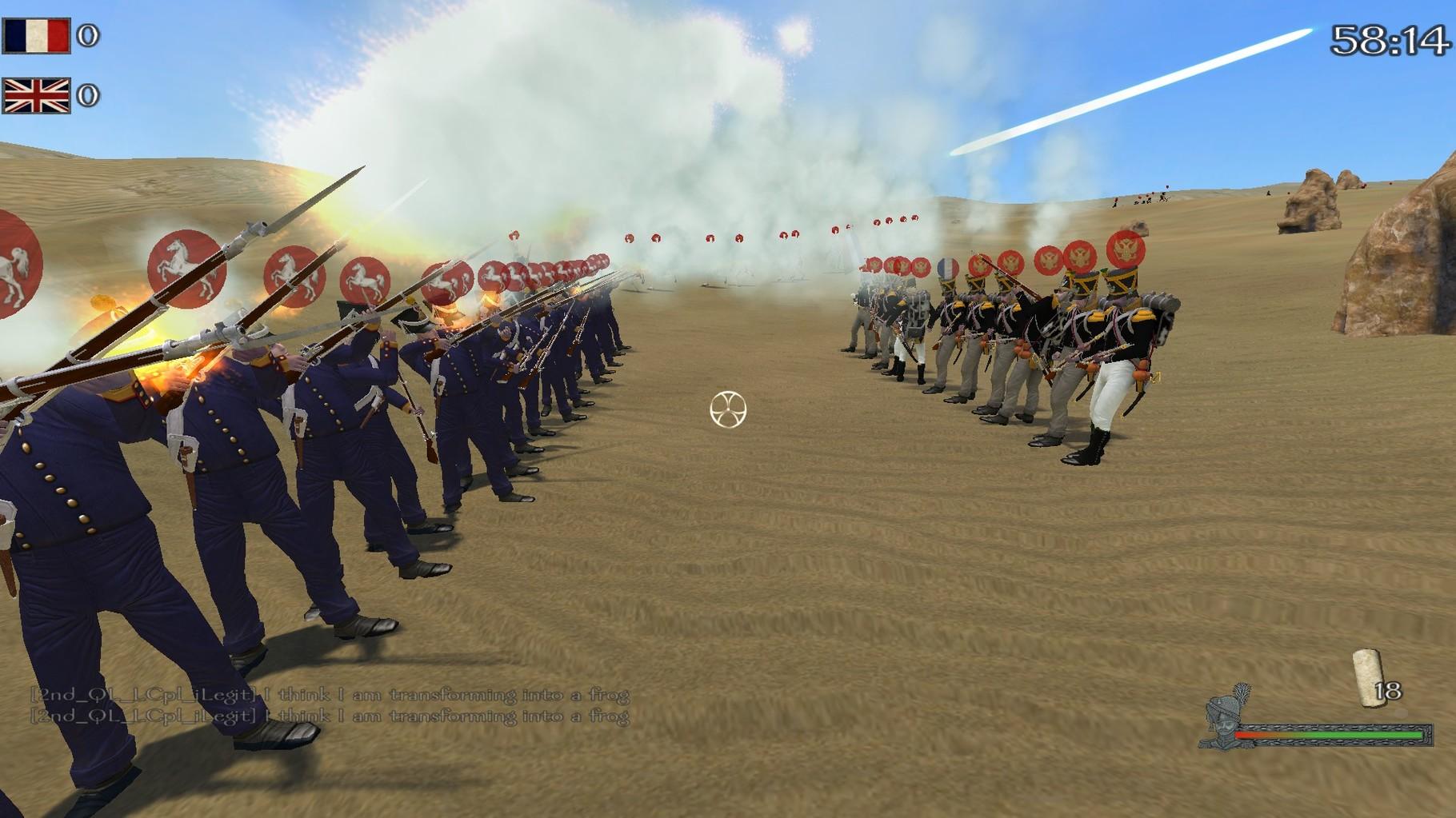 Leichte und Jäger, im Hintergrund die Grenadiere.