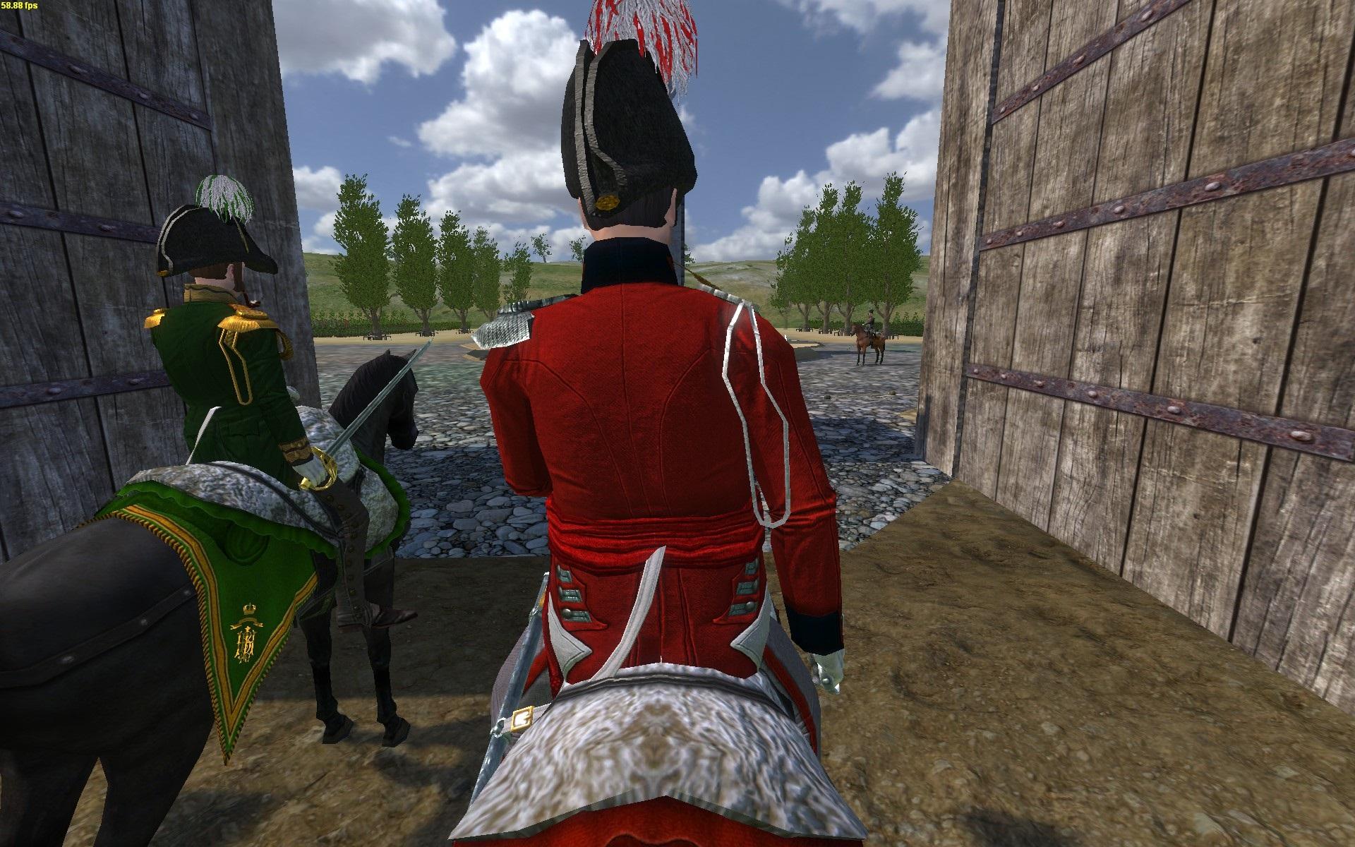 Lieutenant-Colonel JJ zu Pferd [hinten]