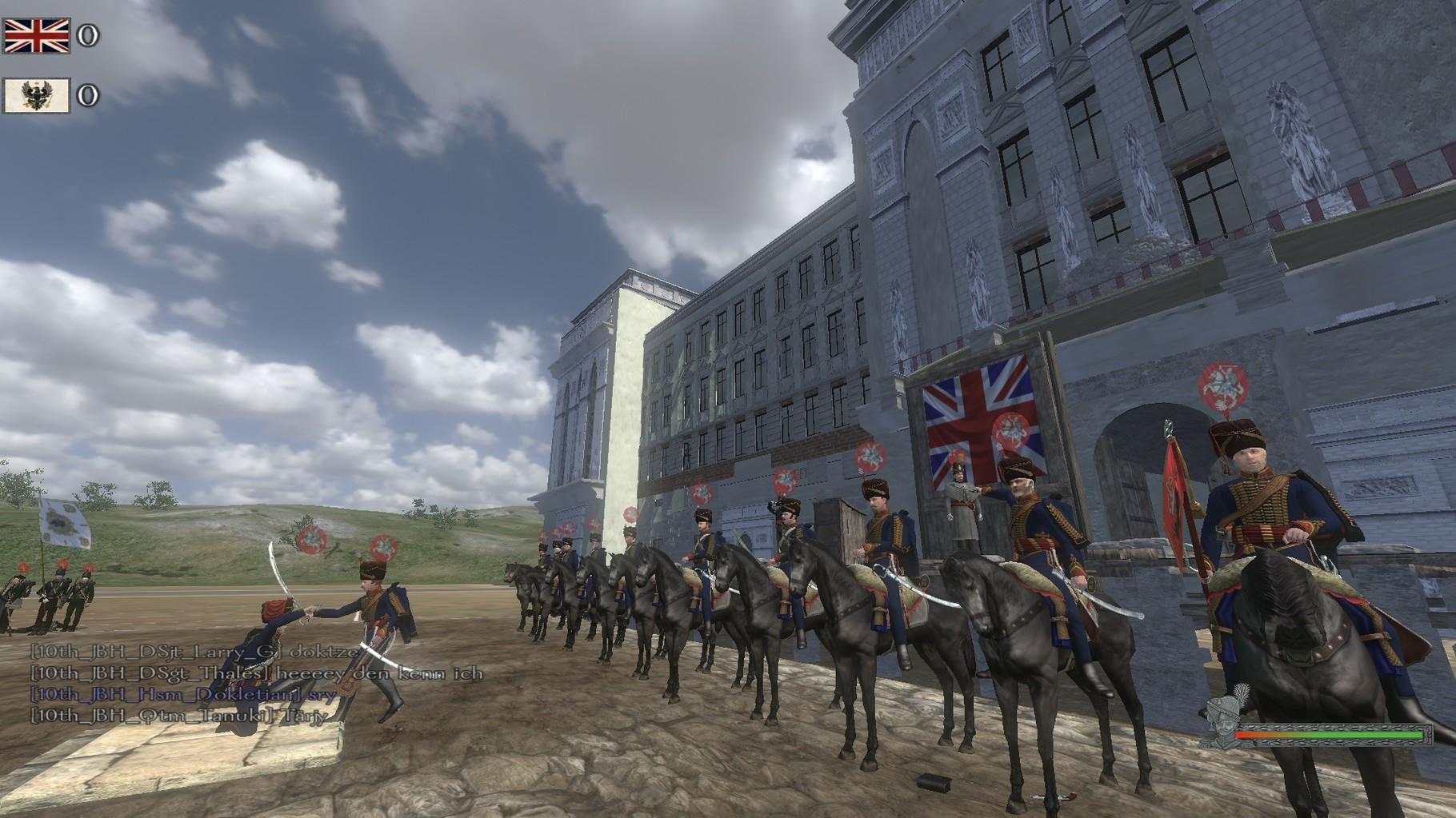 Die Kavallerie während der Nachbesprechung.
