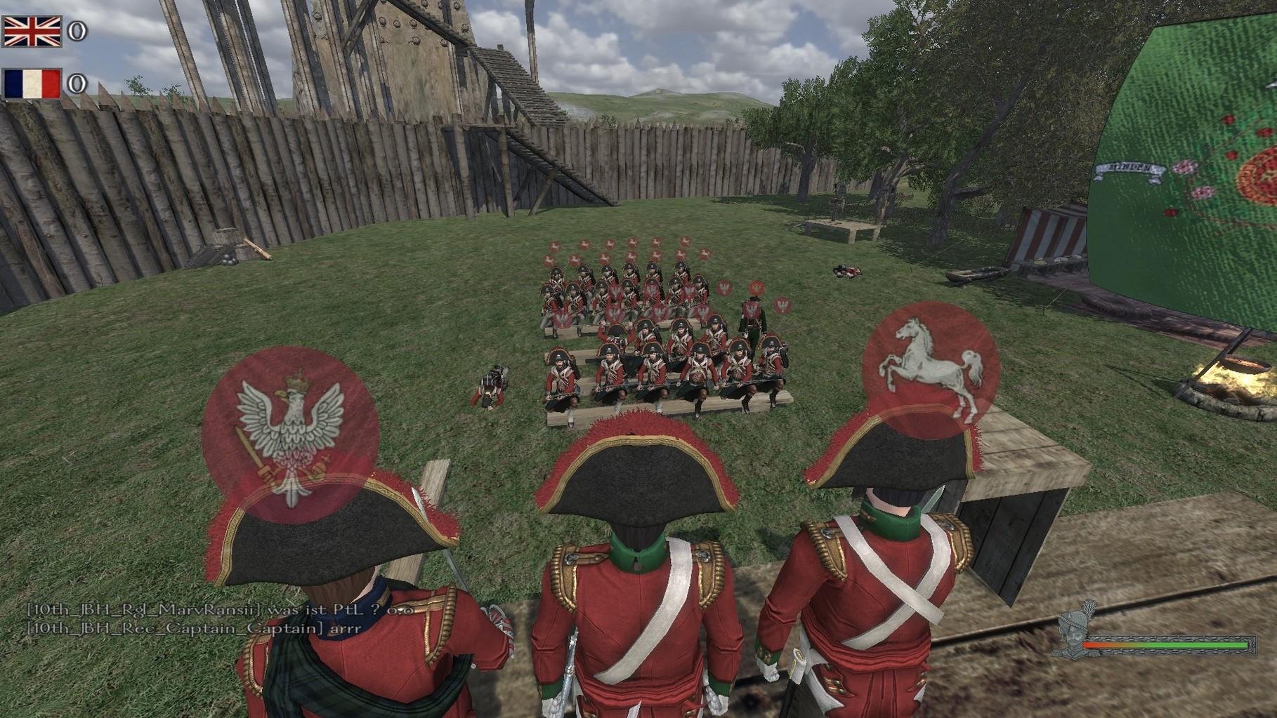 Nachbesprechung mit der Linieninfanterie, der Leichten Infanterie und anfängen der Jäger.