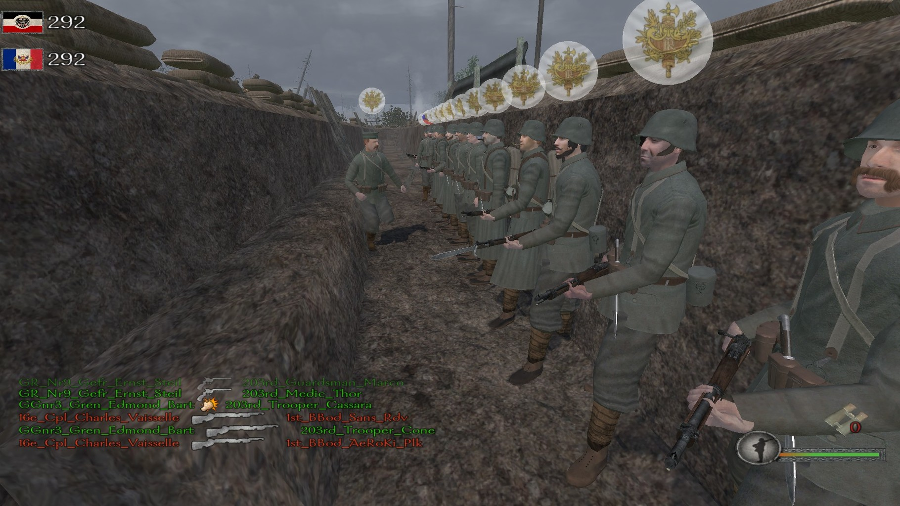 Das 10th in dem Ersten Weltkriegs Mod Iron Europe.