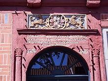 Bild 3: Inschrift am Portal