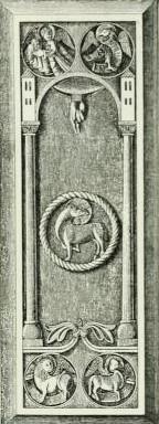 Bild 2: Grabplatte Udos in der Laurenzius-Kapelle