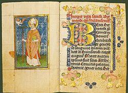 "Das Titelblatt des ""Vita Bernwardi"""